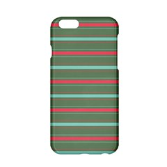 Horizontal Line Red Green Apple Iphone 6/6s Hardshell Case by Mariart