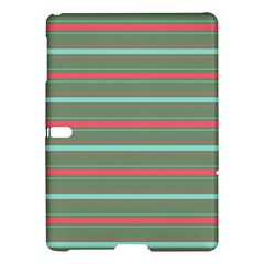 Horizontal Line Red Green Samsung Galaxy Tab S (10 5 ) Hardshell Case  by Mariart