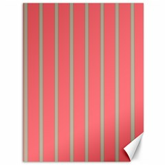 Line Red Grey Vertical Canvas 36  X 48   by Mariart