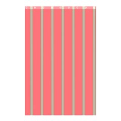 Line Red Grey Vertical Shower Curtain 48  X 72  (small)  by Mariart
