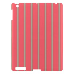 Line Red Grey Vertical Apple Ipad 3/4 Hardshell Case by Mariart