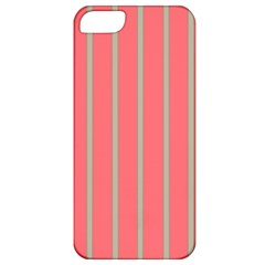 Line Red Grey Vertical Apple Iphone 5 Classic Hardshell Case by Mariart