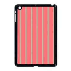 Line Red Grey Vertical Apple Ipad Mini Case (black) by Mariart