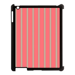 Line Red Grey Vertical Apple Ipad 3/4 Case (black) by Mariart