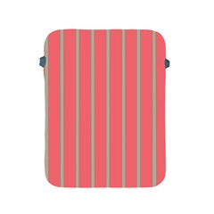Line Red Grey Vertical Apple Ipad 2/3/4 Protective Soft Cases by Mariart
