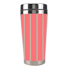 Line Red Grey Vertical Stainless Steel Travel Tumblers by Mariart