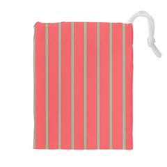 Line Red Grey Vertical Drawstring Pouches (extra Large)