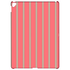 Line Red Grey Vertical Apple Ipad Pro 12 9   Hardshell Case by Mariart