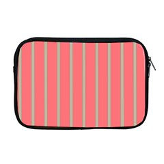 Line Red Grey Vertical Apple Macbook Pro 17  Zipper Case by Mariart