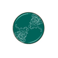 Leaf Green Blue Sexy Hat Clip Ball Marker (4 Pack) by Mariart