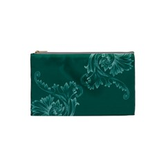 Leaf Green Blue Sexy Cosmetic Bag (small)  by Mariart