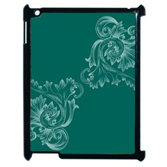 Leaf Green Blue Sexy Apple Ipad 2 Case (black) by Mariart