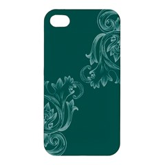 Leaf Green Blue Sexy Apple Iphone 4/4s Premium Hardshell Case by Mariart