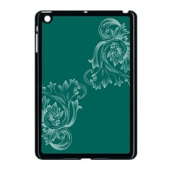 Leaf Green Blue Sexy Apple Ipad Mini Case (black) by Mariart
