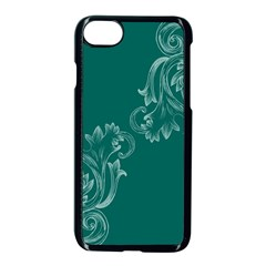 Leaf Green Blue Sexy Apple Iphone 7 Seamless Case (black) by Mariart