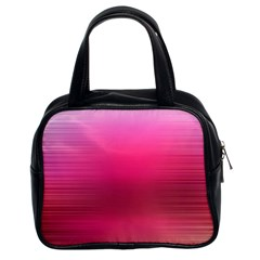 Line Pink Space Sexy Rainbow Classic Handbags (2 Sides) by Mariart