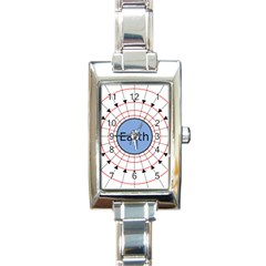 Magnetik Earth s Gravitational Line Triangle Rectangle Italian Charm Watch
