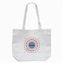 Magnetik Earth s Gravitational Line Triangle Tote Bag (white) by Mariart