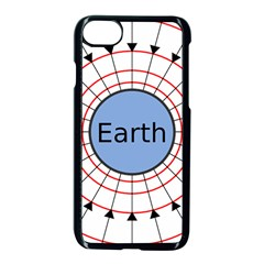 Magnetik Earth s Gravitational Line Triangle Apple Iphone 7 Seamless Case (black) by Mariart