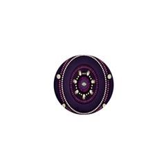 Mandalarium Hires Hand Eye Purple 1  Mini Buttons by Mariart