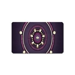 Mandalarium Hires Hand Eye Purple Magnet (name Card)