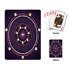Mandalarium Hires Hand Eye Purple Playing Card by Mariart