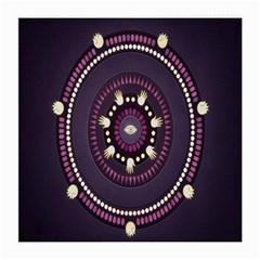 Mandalarium Hires Hand Eye Purple Medium Glasses Cloth by Mariart