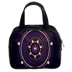 Mandalarium Hires Hand Eye Purple Classic Handbags (2 Sides) by Mariart
