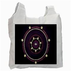 Mandalarium Hires Hand Eye Purple Recycle Bag (one Side) by Mariart