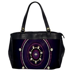 Mandalarium Hires Hand Eye Purple Office Handbags by Mariart
