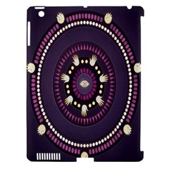 Mandalarium Hires Hand Eye Purple Apple Ipad 3/4 Hardshell Case (compatible With Smart Cover) by Mariart