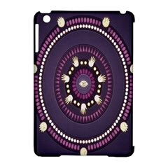 Mandalarium Hires Hand Eye Purple Apple Ipad Mini Hardshell Case (compatible With Smart Cover) by Mariart