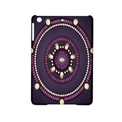 Mandalarium Hires Hand Eye Purple Ipad Mini 2 Hardshell Cases by Mariart