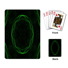 Green Foam Waves Polygon Animation Kaleida Motion Playing Card by Mariart