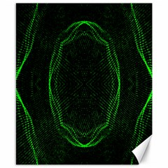 Green Foam Waves Polygon Animation Kaleida Motion Canvas 8  X 10  by Mariart
