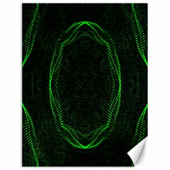 Green Foam Waves Polygon Animation Kaleida Motion Canvas 18  X 24   by Mariart