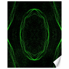 Green Foam Waves Polygon Animation Kaleida Motion Canvas 11  X 14   by Mariart