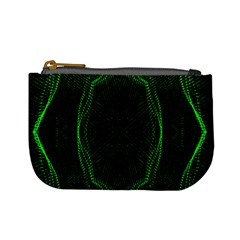 Green Foam Waves Polygon Animation Kaleida Motion Mini Coin Purses by Mariart