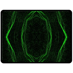 Green Foam Waves Polygon Animation Kaleida Motion Fleece Blanket (large)  by Mariart