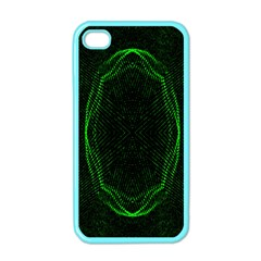 Green Foam Waves Polygon Animation Kaleida Motion Apple Iphone 4 Case (color) by Mariart