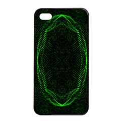 Green Foam Waves Polygon Animation Kaleida Motion Apple Iphone 4/4s Seamless Case (black) by Mariart