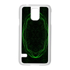 Green Foam Waves Polygon Animation Kaleida Motion Samsung Galaxy S5 Case (white) by Mariart