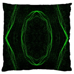 Green Foam Waves Polygon Animation Kaleida Motion Standard Flano Cushion Case (two Sides) by Mariart