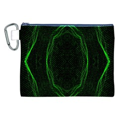 Green Foam Waves Polygon Animation Kaleida Motion Canvas Cosmetic Bag (xxl) by Mariart