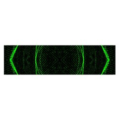 Green Foam Waves Polygon Animation Kaleida Motion Satin Scarf (oblong) by Mariart