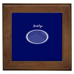 Moon July Blue Space Framed Tiles by Mariart