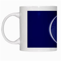 Moon July Blue Space White Mugs by Mariart