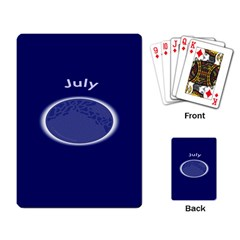 Moon July Blue Space Playing Card by Mariart