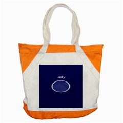 Moon July Blue Space Accent Tote Bag by Mariart