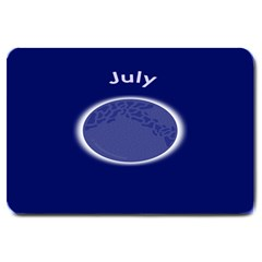 Moon July Blue Space Large Doormat